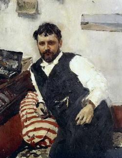 Портрет художника К.А. Коровина (Серов В.А., 1891)