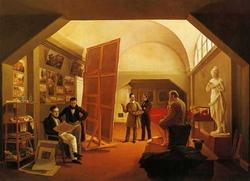 Мастерская художника П.В. Васина (Зеленцов К.А., 1833 г.)