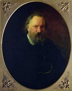 Портрет писателя А.И. Герцена (Ге Н.Н., 1867)