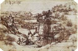 Этюд пейзажа 1473 года (Леонардо да Винчи)