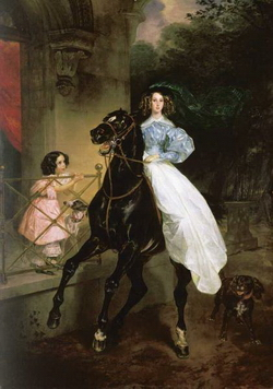 Всадница (К.П. Брюллов, 1832 г.)