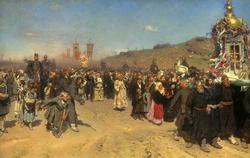 Крестный ход в Курской губернии (Репин И.Е., 1880—1883)
