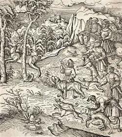 Охота на оленя (Ганс Бургкмаер)