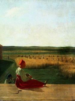 На жатве. Лето (А.Г. Венецианов, середина 1820-х гг.)