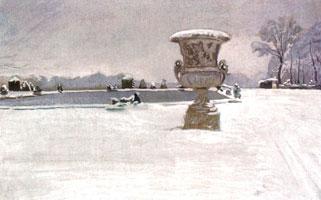 Снег в Версале. 1911 г.