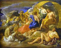 Гелиос Фаэтон с Сатурном и четырмя сезонами (Н. Пуссин)