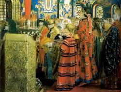 Русские женщины XVII столетия в церкви (Рябушкин А.П., 1899)