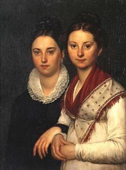 Портрет дочерей скульптора Мартоса (А.Г. Варнек)