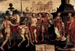 Момус порицает богов (Мартин ван Гэмскерк)