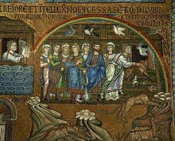 Окончание потопа (византийская мозаика 12 века)