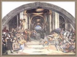 Изгнание Гелиодора из храма (Рафаэль)