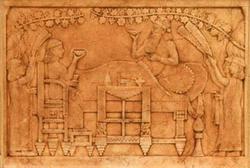 Царь Ашурбанипал с царицей, пирующие в беседке