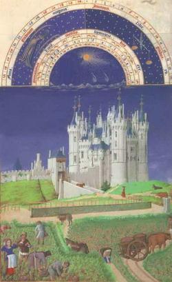 Месяц сентябрь - замок Сомюр (Братья Лимбург)