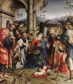 Поклонение младенцу (Франческа Франчиа)