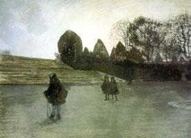 Прогулка короля. 1896 г.