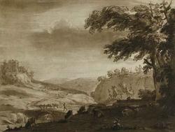 Рисунок из Liber Veritatis (Клод Лоррен)