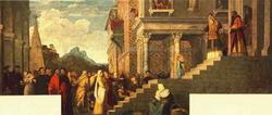Введение во храм Пресвятой Девы (Тициан)
