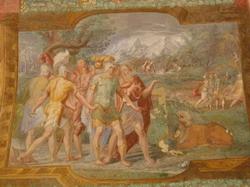 Плафон в палаццо Вителли (Дочено Герарди)