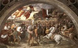 Атилла перед святым Львом III (Рафаэль, фрагмент)