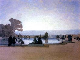 Версаль. Людовик XIV кормит рыб. 1897 г.