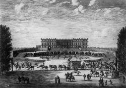 Версаль со стороны сада в 1674 году (Израэль Сильвестр)
