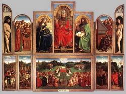 Гентский алтарь (Губерт ван Эйк, около 1425 г.)