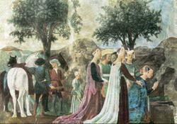Прибытие царицы Савской к царю Соломону (Пьеро ди Фрачески)