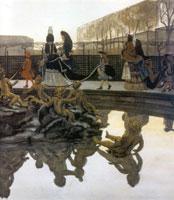 Прогулка короля. 1906 г.