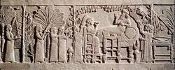Ассирийские придворные в саду Ашурбанипала