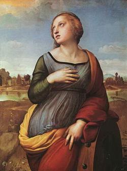 Святая Екатерина (Рафаэль, фрагмент)