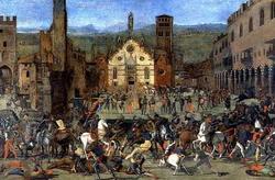 Битва на улицах Мантуи (Доминико Мороне)