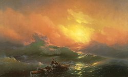 Девятый вал (И.К. Айвазовский, 1830)