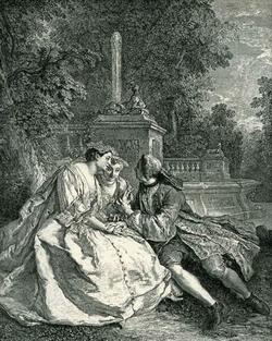 Беседа в саду (Жан-Франсуа де-Труа)