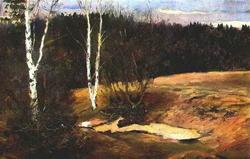 Последний снег (И.С. Остроухов, 1886)