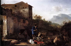 Пейзаж с пастухом (Адам Пинакер)