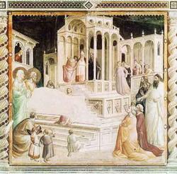Введение в храм Пресвятой девы (Таддео Гадди, 1332 г.)