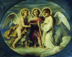 Служение ангелов (Ф. Бруни, 1854 г.)