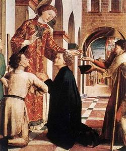 Святой Лауренс раздает милостыню (Михаэль Пахер)