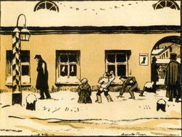 """""""... Злые дети бросали камни вслед ему"""". 1916 г."""