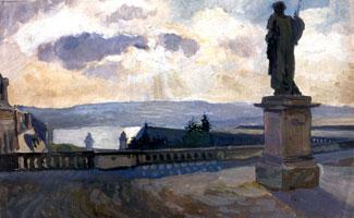 Версаль. Пейзаж со статуей. 1905-1906 г.