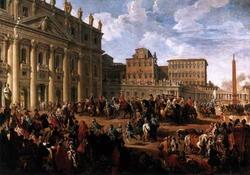 Прибытие Карла III к собору св. Петра (Дж.А. Паннини)