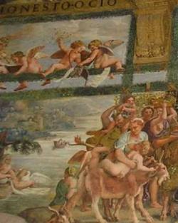 Деталь фрески Приготовление к банкету (Джулио Романо)