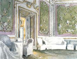 """Ораниенбаум. Кабинет """"Обезьян"""" в павильоне Катальная гора. 1900 г."""