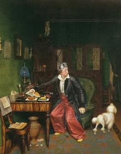 Завтрак аристократа (Федотов П.А., 1849—1850 гг.)