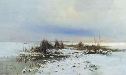Зимний пейзаж (С.И. Светославский, 1880-е)