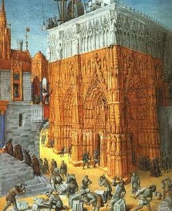Пожар иерусалимского храма (Ж. Фуке)