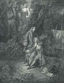 Портрет самого художника и его друга Жюльена (А. Ватто)