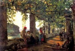 Веранда, обвитая виноградом (С. Щедрин, 1828 г.)