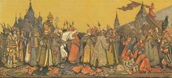Вербное воскресенье в Москве при царе Алексее Михайловиче (В.Г. Шварц, 1865 г.)