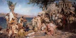 Фрина на празднике Посейдона в Элевзине (Семирадский Г.И., 1889)